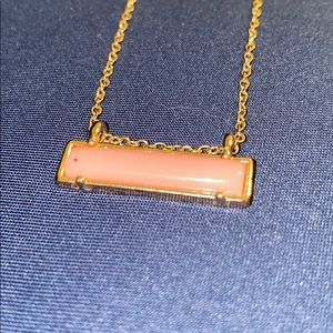 Jewelry - Gold plated pink bar necklace